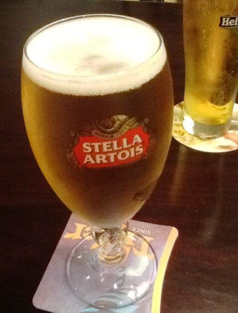 香港で飲むビール