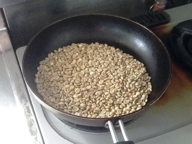 コーヒー焙煎用フライパン2