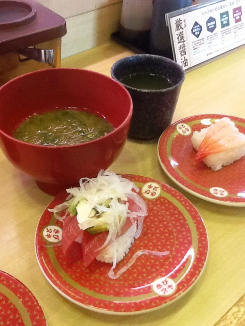 ゼンショーはま寿司サーモンと甘エビ