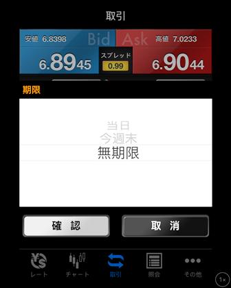 SBIFXトレードアプリ2
