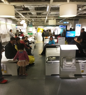 中国IKEAベッド売り場
