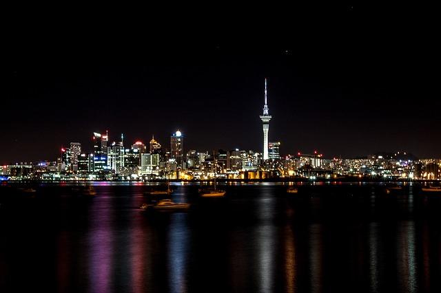 オークランドの夜景