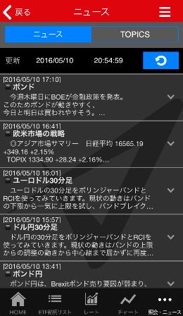 トライオートETFiPhoneアプリニュース画面