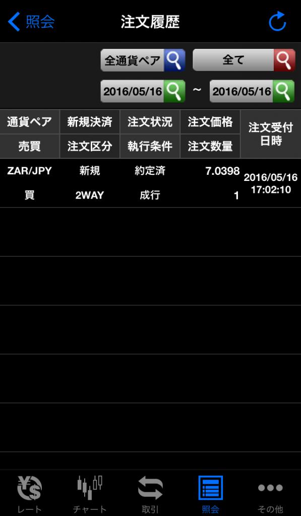SBIFXトレードアプリチャート上からの注文画面2