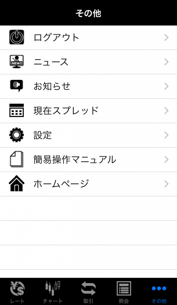 SBIFXトレードアプリニュース画面